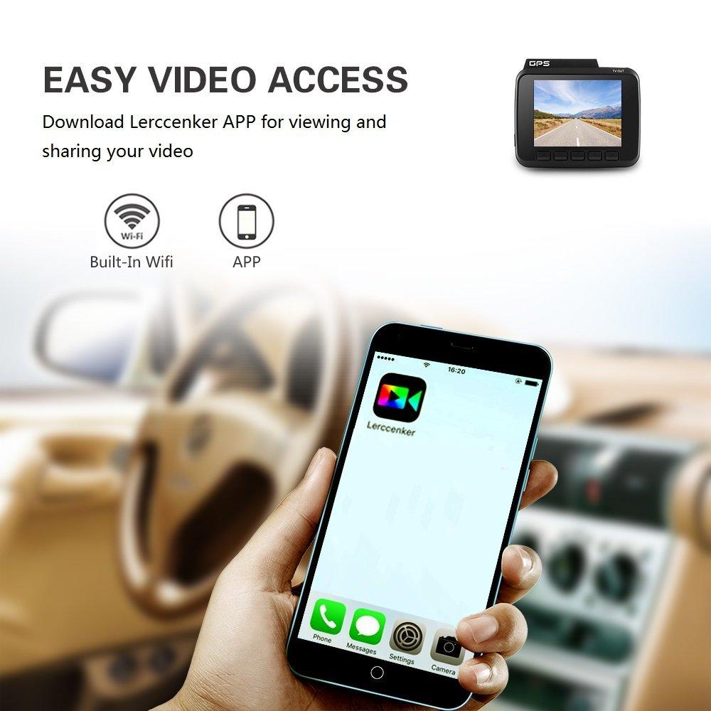 H.264 Ultra HD 2160 P 2.4 pouce Affichage Novatek 96660 GPS Logger G-sensor Détection de Mouvement 4 K WIFI voiture Dash cam