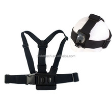 A model chest band with B model head band,accessories for xiaomi yi GP59