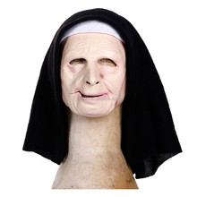 The Town Scary Nun Mask facial mask for women cosplay