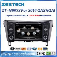 ZESTECH touch screen car dvd car gps For Nissan QASHQAI 2014 support 3G BT audio DVB-T MP3 MP4 HDMI USB GPS DVD function