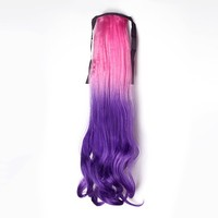 Women's Drawstring Ponytail Curly Ombre Hair Extension 6 Colors
