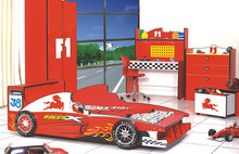 Bumpkincraft supply top quality Special Red Color Kids Car Bed/Racing Car Bed/Child Furniture