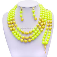 fluorescence color beads jewelry set/ manual best costume good looking bead jewelry