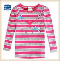(F5978) 18M-6Y nova kids t shirt wholesale girls cheap t shirts newest style child girls shirts