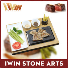 Resturant 7pcs per set steak cooking plate , cooking steak plate ,lava stone for cooking ,steak plate