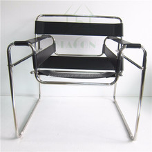 Marcel Breuer chair hot sale genuine leather stainless frame Wassily Lounge Chair