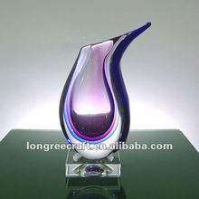 Moedrn Purple Glass Vases Wholesale for Hotel Decoration