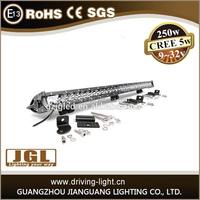 new 2015 250w led offroad light bar 12v 24v off road led driving light bar made in China alibaba