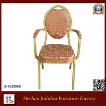Jepara Upholstery Furniture - French European Arm Chair - Single Sofa Wing with Gold Trimming