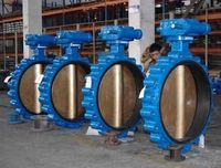 Plated Carbon steel center line-type butterfly valve