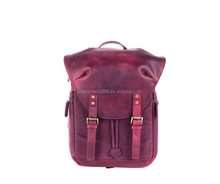 China Wholesale Women's Cotton Canvas&Leather Travel Backpack Waterproof Digital Camera Backpack DSLR Lightweight Camera Bag