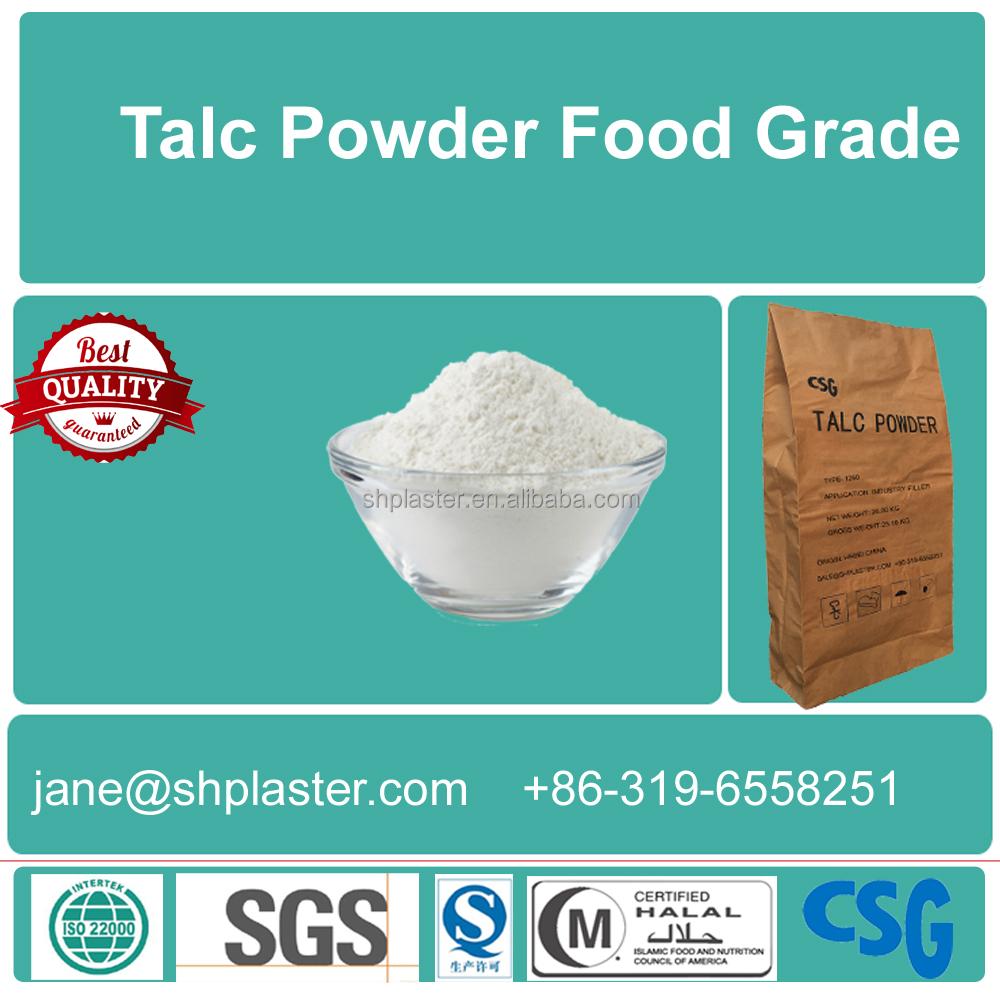 Fournir de qualité alimentaire Poudre De Talc avec délai de livraison rapide