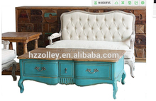 New Zealand style Solid wood carved legs Antique hotel lobby tea wooden table