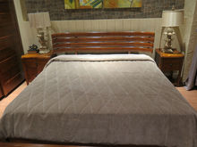 New design fashionable 1.5m/1.8m bed and dresser solid wood bed bedroom sets
