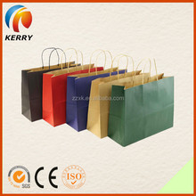 Wholesale Promotional Best Quality Handle Shopping Craft Paper Bag
