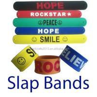 Popular Promotional Gift Colorful Band Slap Reflector