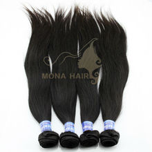 Splendid top quality natural color #1b can be dyed any color 5A cheap virgin brazilian straight hair 100% unprocessed hair