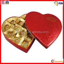 Valentine gift heart shape chocolate packaging tin