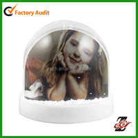 Hot Snowflakes Promotional Gifts Photo Water Snow Globe