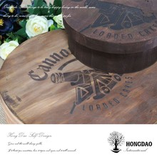 HONGDAO handmade eco-friendly wood birthday cake packing boxes