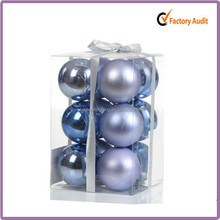 2015 new design cheap packaging custom wholesale shatterproof christmas ball ornaments