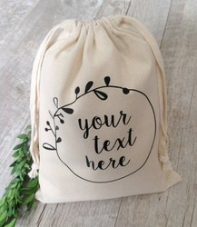 Hot Selling Eco Cotton Canvas Drawstring Bag For Packing