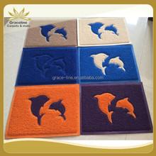 Soft home hotel anti-slip eco-friendly fashion design pvc mat