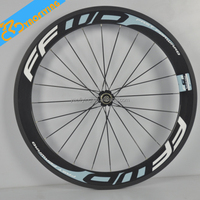 50mm FFWD carbon fiber aluminum alloy road bicycle wheels for sale,20 carbon bicycle wheels 700c white carbon road bike wheels