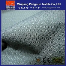 100% polyester 200D dobby honey comb lattice/ soccer pattern tecido oxford fabric with pu coating for golf bag