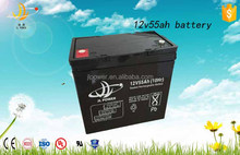 JL brand 12v 55ah rechargeable battery 12v 55ah accumulator for ups and solar system hot sale