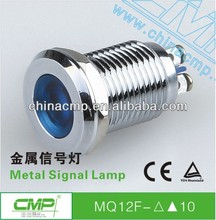 Installation hole size 12mm metal waterproof led signal lamp (TUV CE)