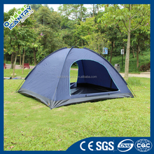 top quality 3 person classic Family double layer Camping Tent with fiberglass pole