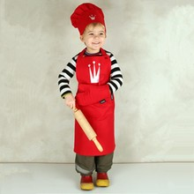 disposable 100% cotton kitchen kids apron set and chef hats