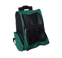 Pawhut Green Pet Dog Carrier Backpack Luggage Box Bag With Wheels