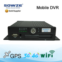 Factory directly supply:4CH HDD and SD card MDVR with GPS 3G WIFI support PC and Mobile viewing