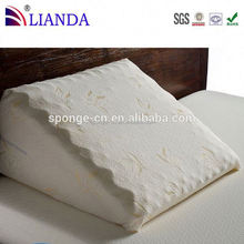 fashion reading wedge bed pillow, flocking wedge back pillow, head and neck cushion pillow