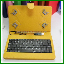 7 inch Universal Tablet PC Leather Case with USB Plastic Keyboard