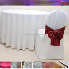 Plain colorfur table linen for wedding