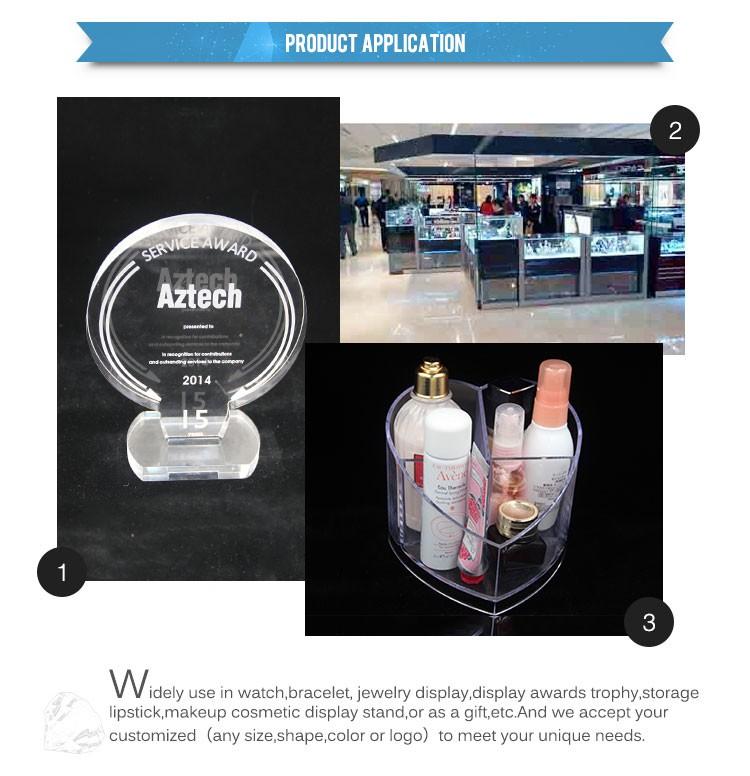 Design criativo OEM troféu e prêmios de acrílico transparente para o presente, lembrança