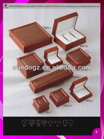 handmade wooden antique jewelry box with pu decoration