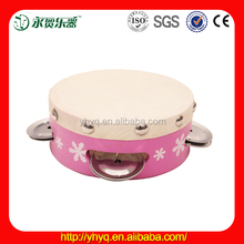 2015 wholesale education musical instrument mini tambourine with metal bell FTH