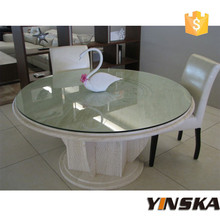 acrylic cream colored cheap round dining table and chairs