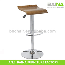 Golden supplier retro adjustable plywood bar stool