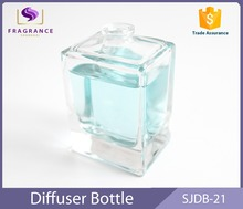 crystal square glass perfume bottle custom made