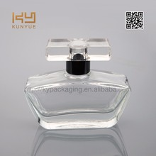 decorative empty pure perfume glass bottle