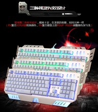 3 colors LED backlight computer keyboard USB wired professional laptop gaming keyboard
