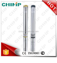 """CHIMP 4"""" 100QJ(D)12 12M'/H 7.5kw Single/three-phase stainless steel submersible deep well pump"""