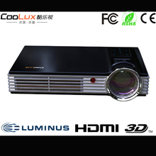 Hottest !Coolux X3S 3D mini Projector with 6000 mAH battery