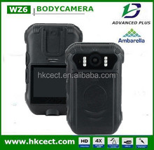 CCTV dual cam night vision IP56 body worn camera for security