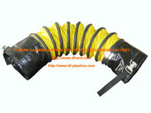 fire retardant PVC flexible ducting hose with buckle ends